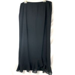 Women's maxi skirt black sz 22w JBS
